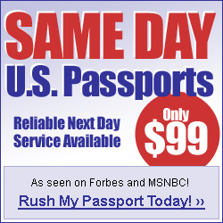 Same Day US Passports.  Reliable Next Day Service Available, As seen on Forbes and MSNBC.  Rush my Passport today